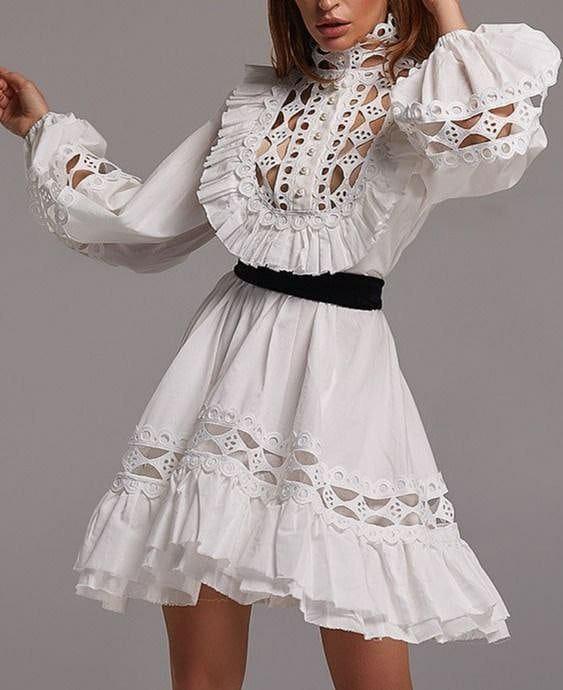MARBLE WHITE DRESS