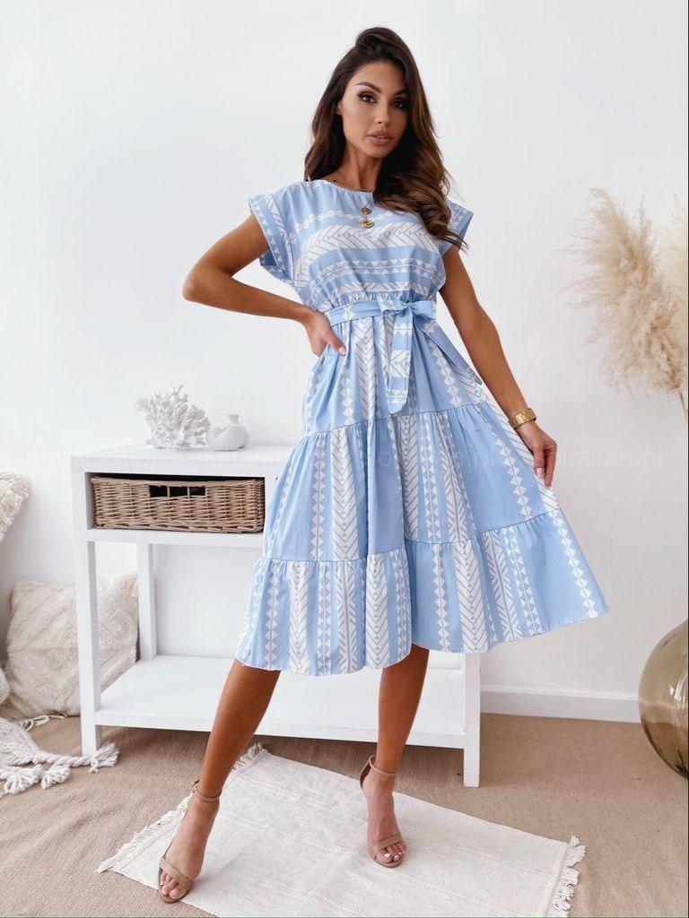 Everly blue dress