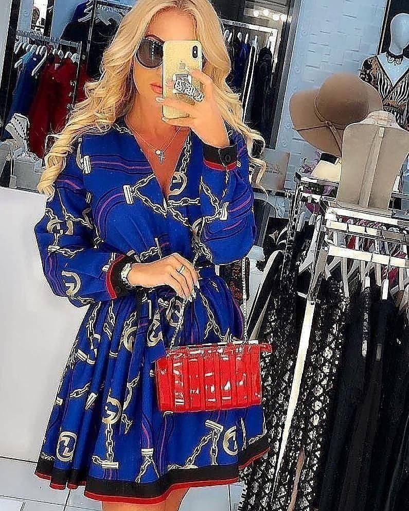 MILLY BLUE SHORT DRESS