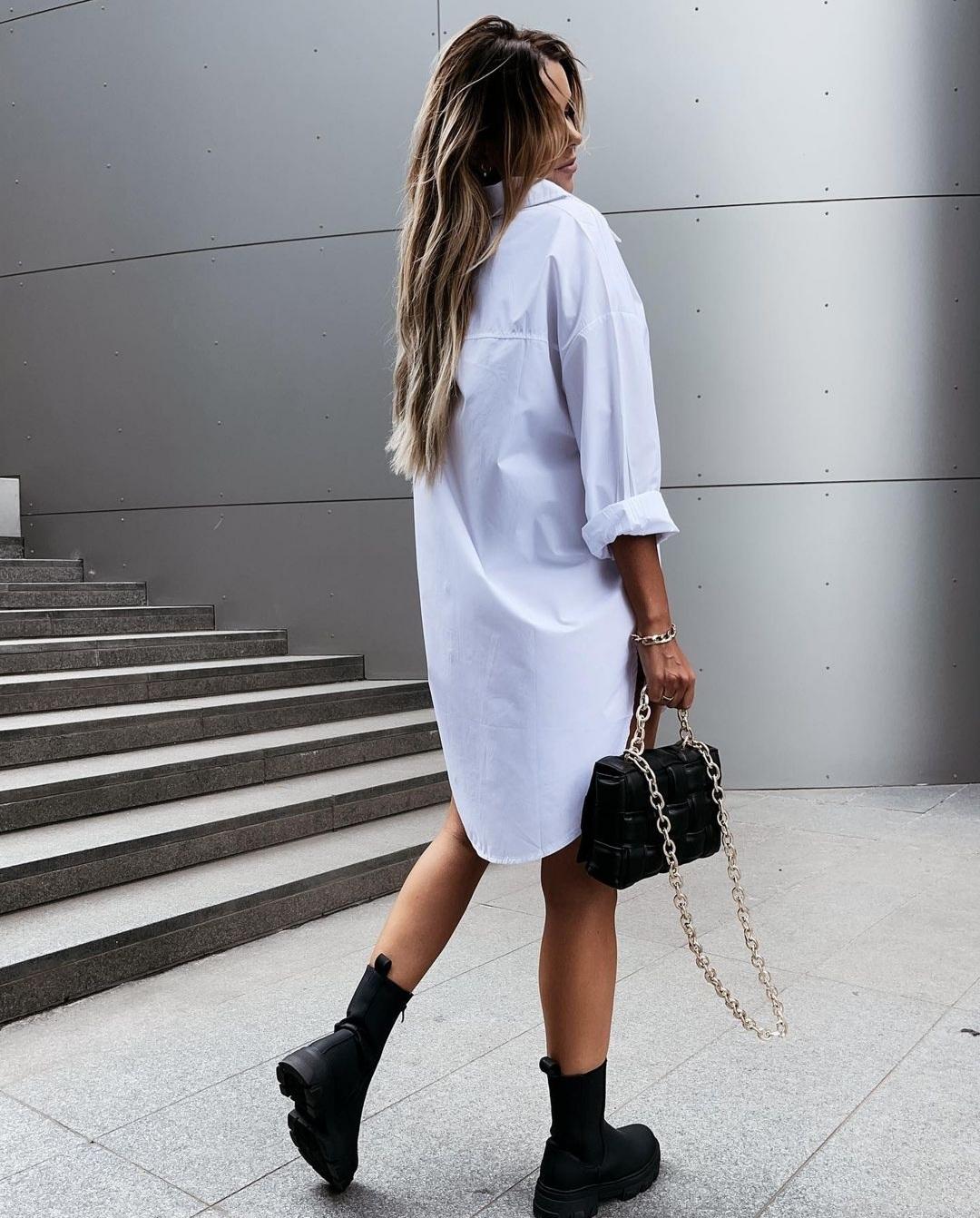 Chemise robe blanche